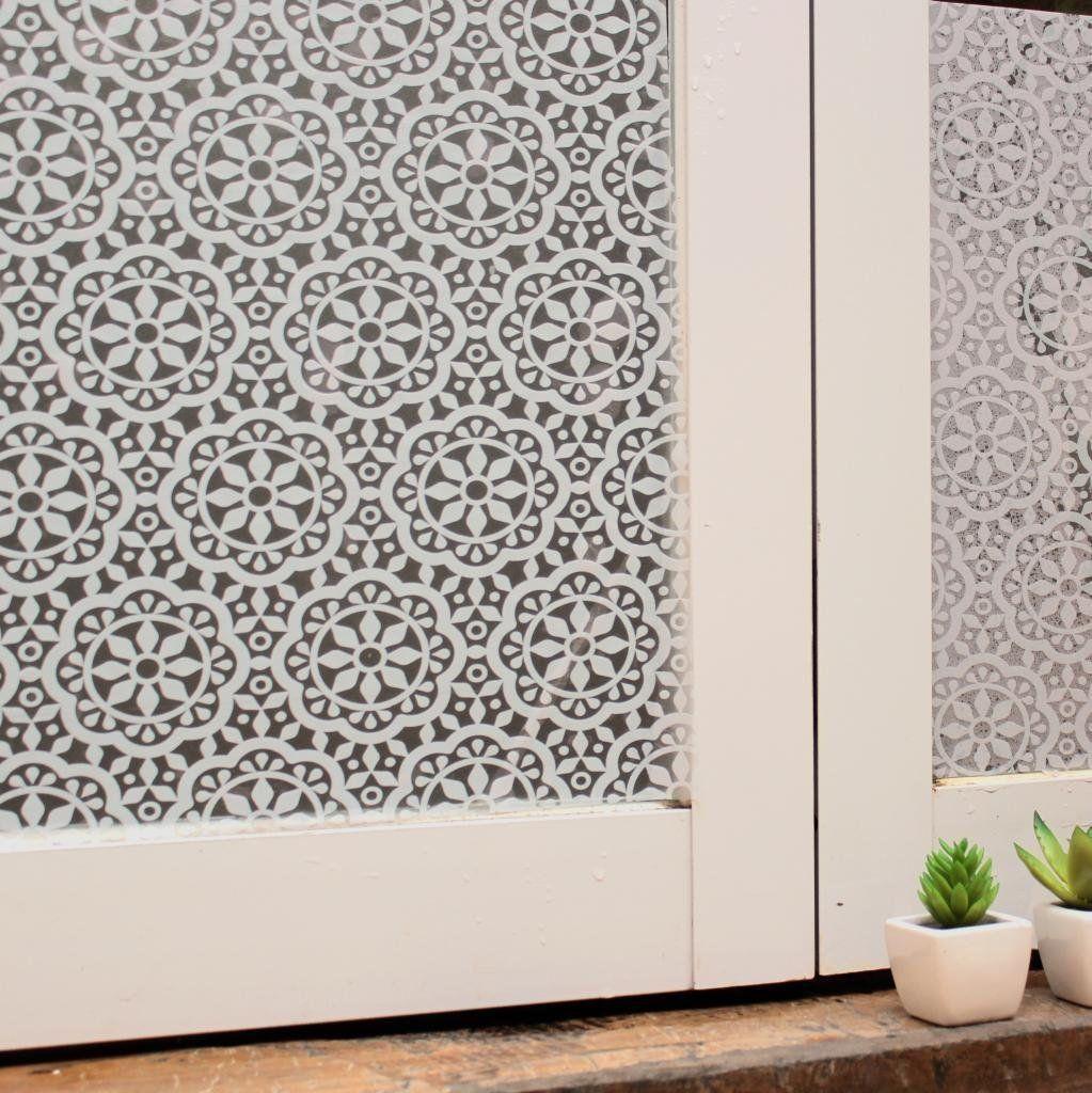 lifetree selbstklebend ohne klebstoff fensterfolie statisch folie sichtschutzfolie blume 45. Black Bedroom Furniture Sets. Home Design Ideas