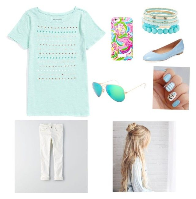 """""""Cute summer party outfit"""" by vcounts on Polyvore featuring Charlotte Russe, Tommy Hilfiger, American Eagle Outfitters, Elorie and Lilly Pulitzer"""
