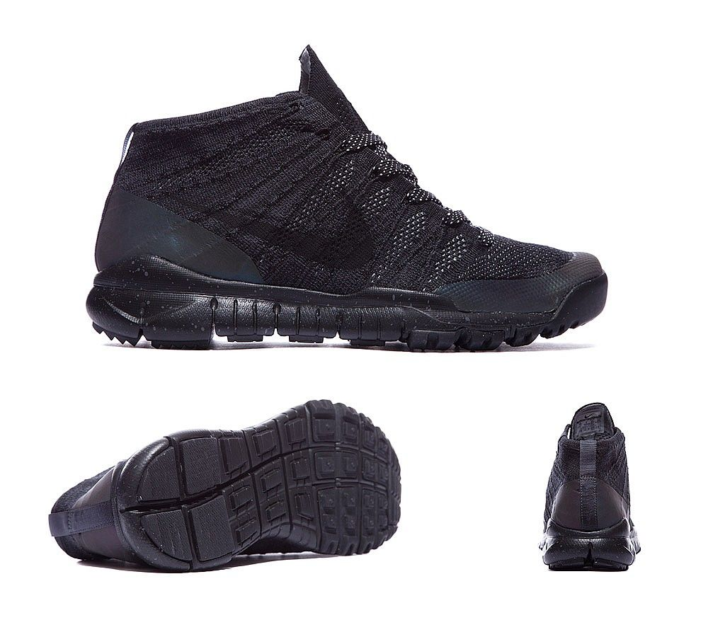 new products 04cbe 8a594 Nike Flyknit Trainer Chukka FSB   Black   Anthracite   Footasylum
