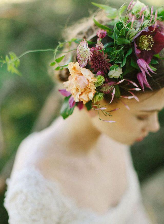 Autumn Floral Wedding Crowns ~ we ♥ this! moncheribridals.com