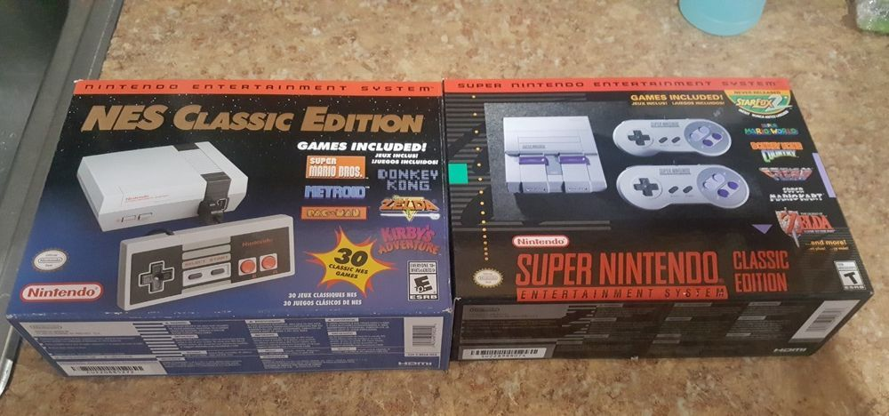 Nintendo Nes Classic Edition Snes Classic Both Systems New