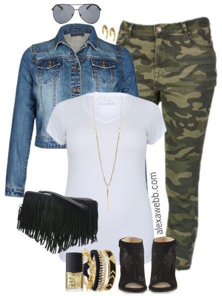 8c769809bdd Plus Size Camo Pants Outfits - Plus Size Fashion for Women - alexawebb.com   alexawebb