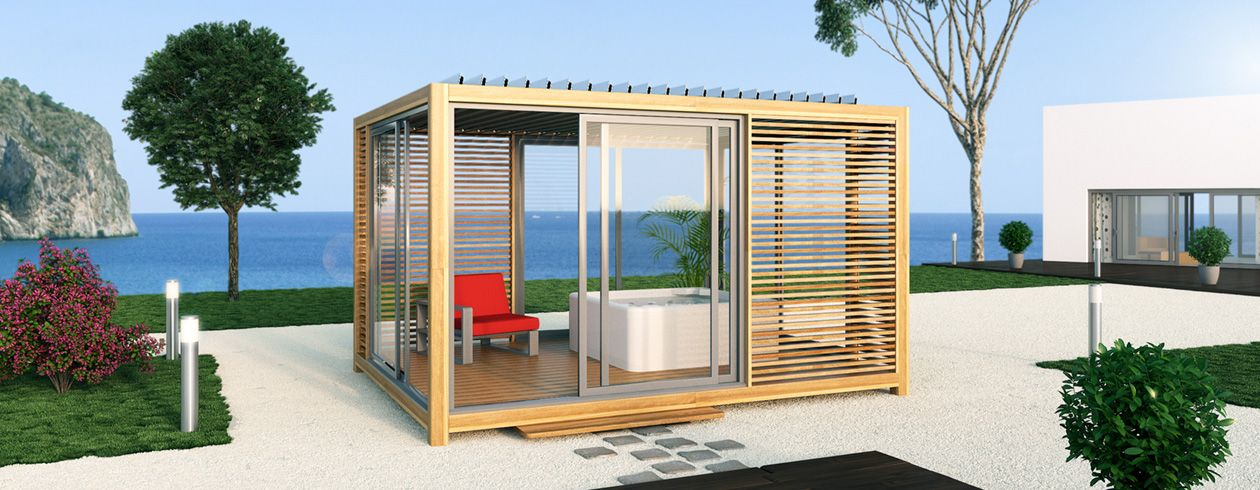 Extaze Outdoor, fabricant abris de jardin en bois, abris spa ...