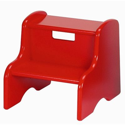 Astounding Little Colorado Personalized Step Stool Finish Primary Red Gmtry Best Dining Table And Chair Ideas Images Gmtryco