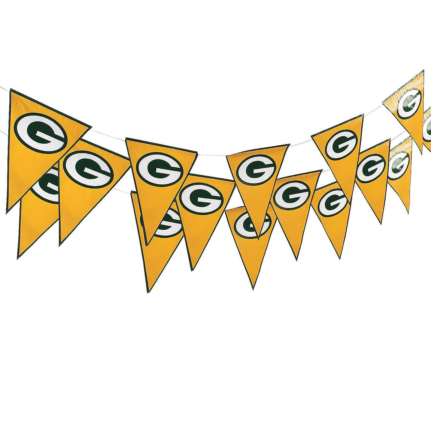 Nfl 174 Green Bay Packers 8482 Pennant Banner Orientaltrading Com Pennant Banners Nfl Green Bay Green Bay
