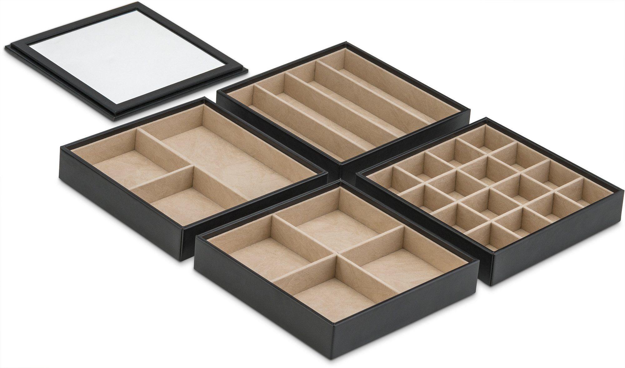 organizer drawer tray view dp com drawers jewelry compartments larger burgundy amazon stax neatnix