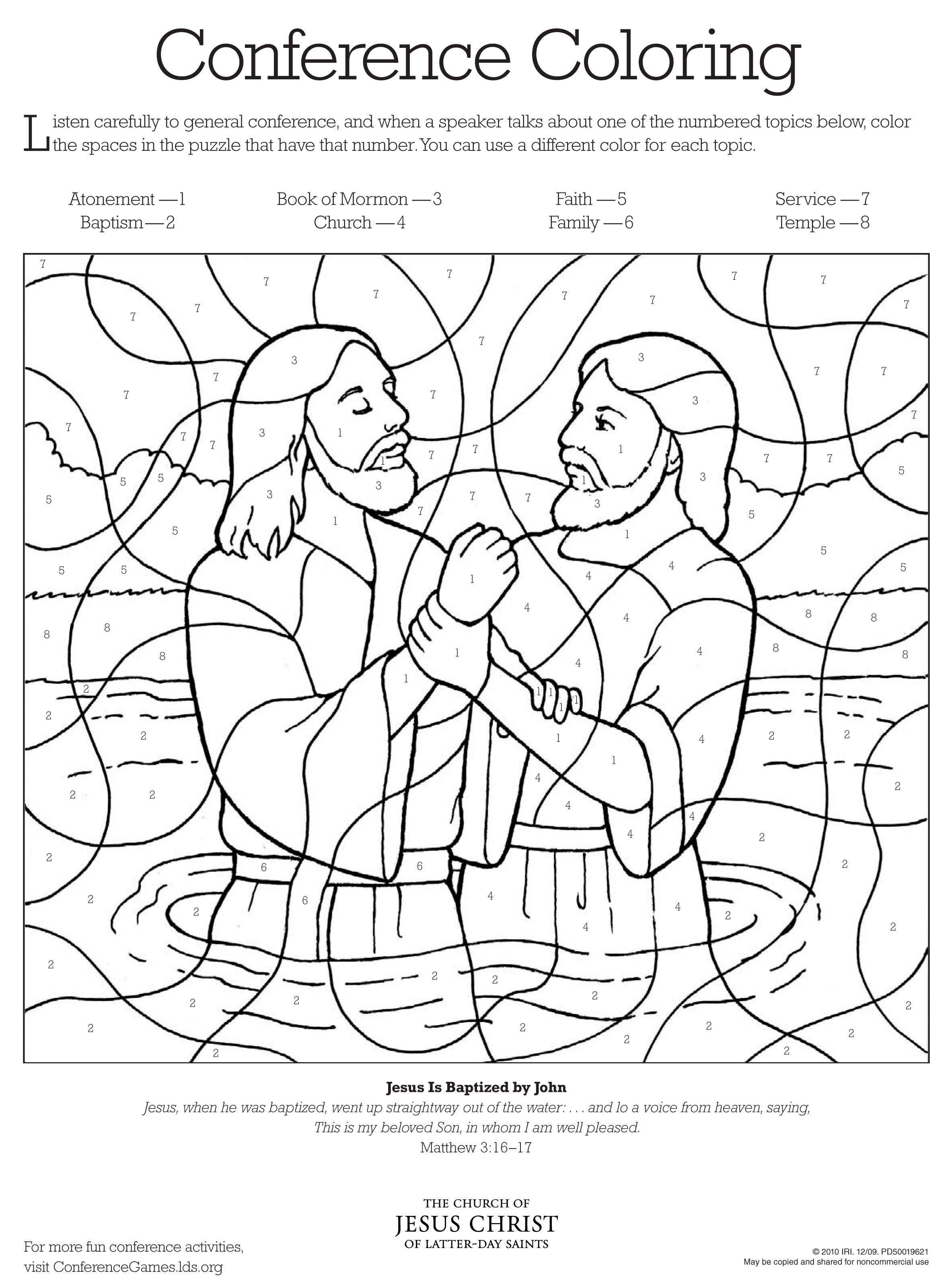Conference Coloring Page 2 Lds Coloring Pages Church Activities