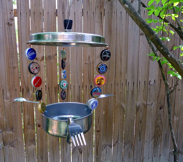 Bird feeder made from recycled materials trash to for Diy from recycled materials