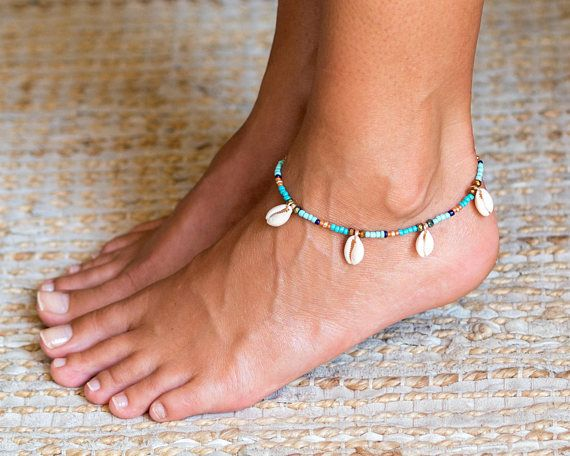 Beach Anklet Beach Ankle Bracelet Shell Anklet Shell Ankle
