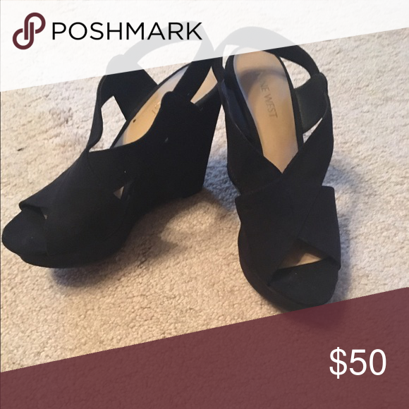 Nine West Wedges Worn only once! Comfortable wedge and can be worn for a casual night out or a party! Shoes Wedges