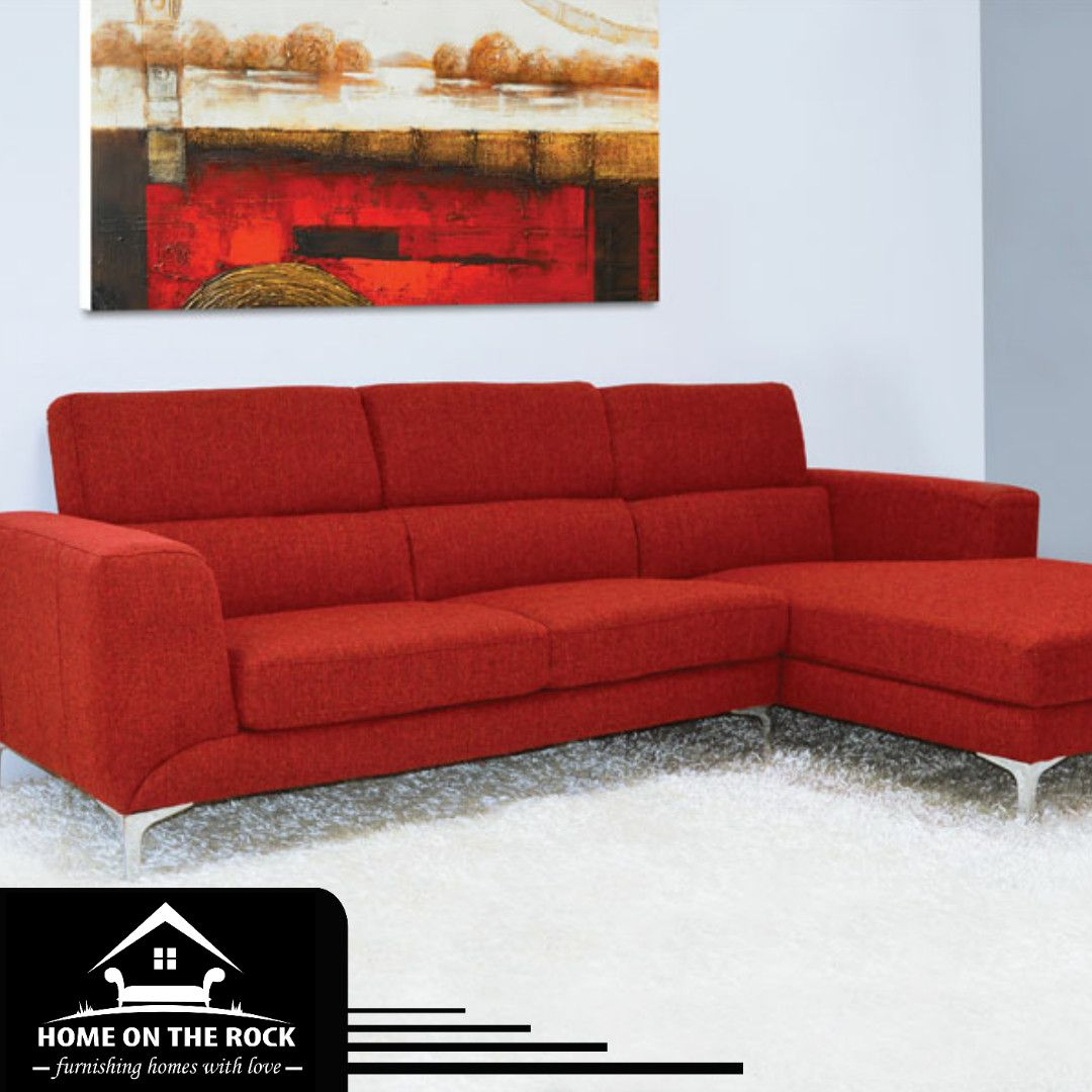 c3a58dc72f Red sectional  Contemporary style red fabric with chrome legs. Visit our  website  www.sta.cr 2YwQ1  barstool  charing  moments  drink  friends moments  ...
