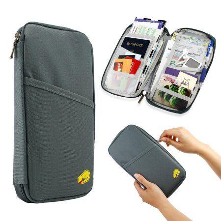 5966436ba2da Travel Trip Passport Credit ID Card Cash Organizer Wallet Purse ...