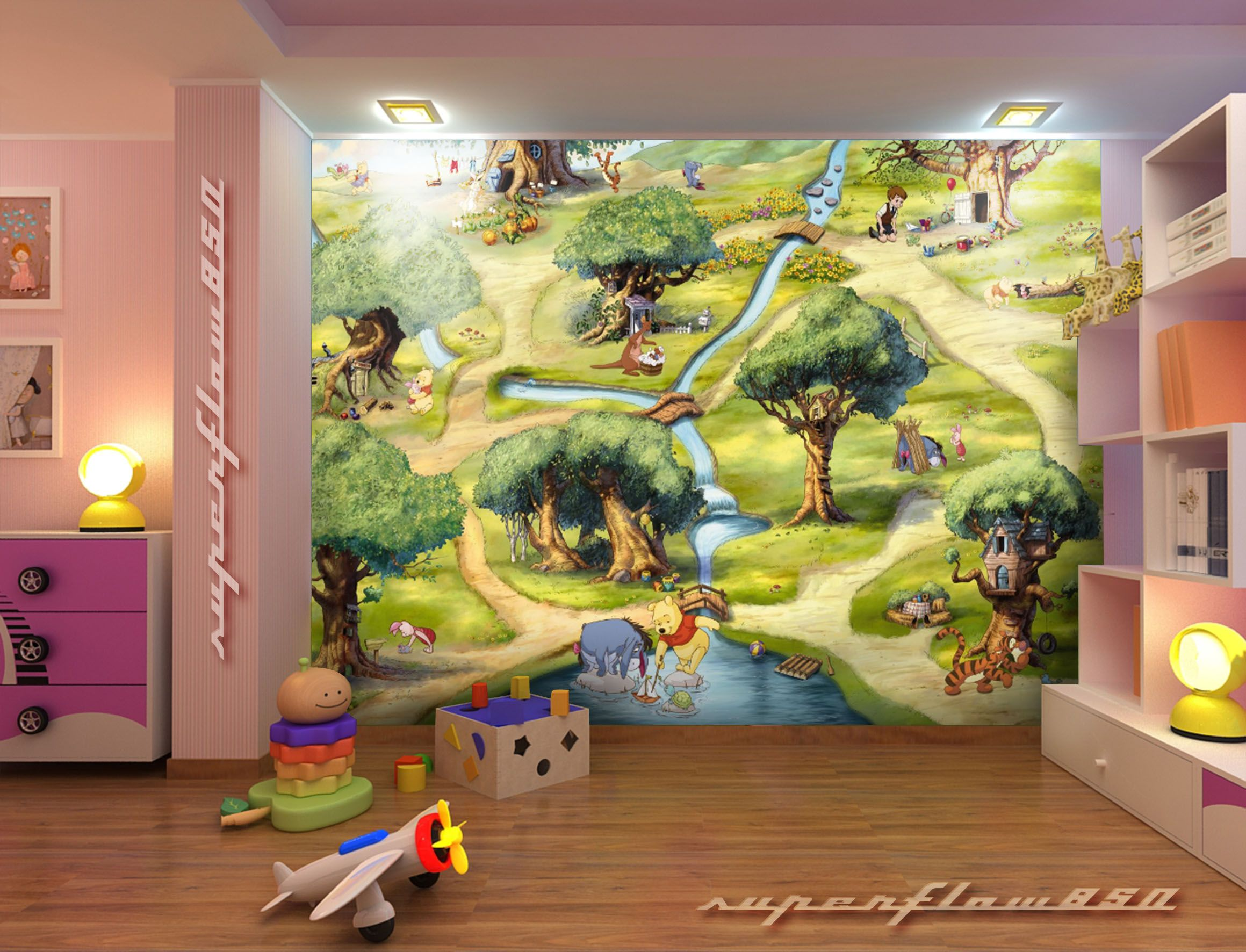 Map of the hundred acre woods winnie the pooh disney wall mural map of the hundred acre woods winnie the pooh disney wall muralds amipublicfo Images