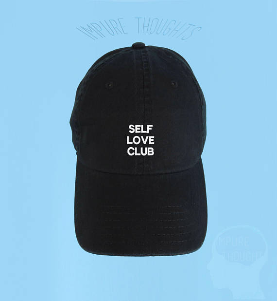 d7f5002db78 SELF LOVE CLUB Dad Hat Embroidered Black Baseball Cap Low Profile Custom  Strap Back Unisex Adjustabl