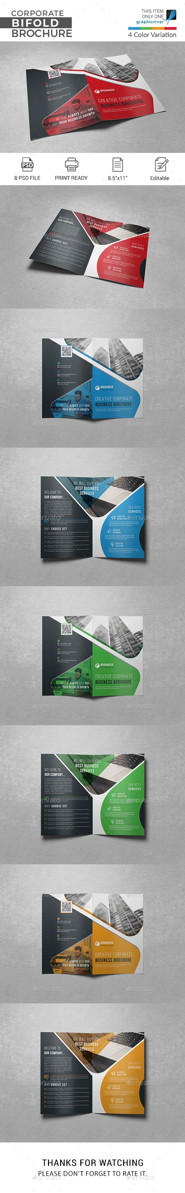 Bi Fold Brochure Template Psd Easy Customizable And Editable Print Ready Format