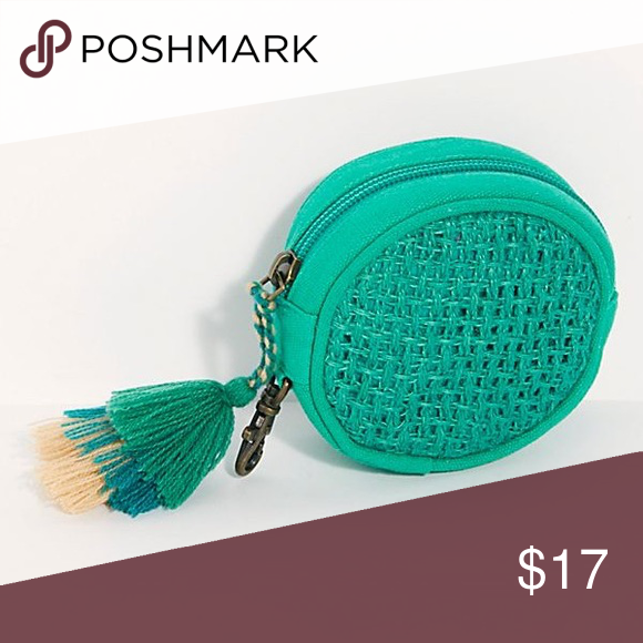 Free People Jute Woven Coin Pouch