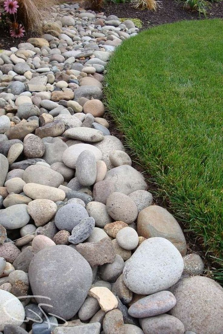 20 Incredible River Rock Landscape And Garden Ideas For ...