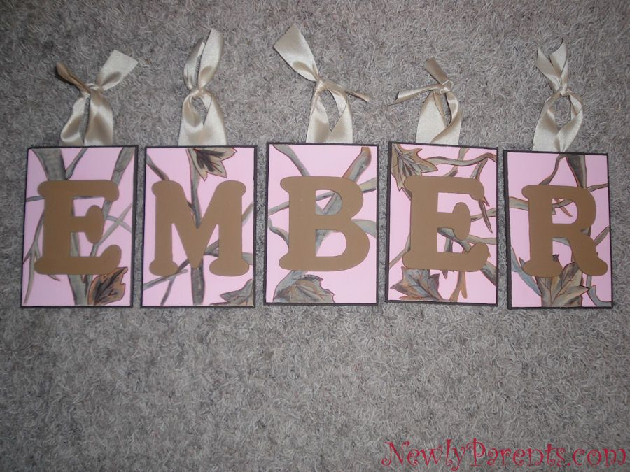 Pink Camo Decorations For Party Ember Pink Camo Name Plaques