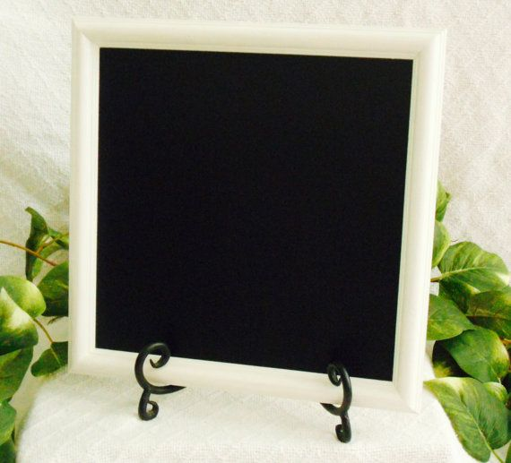 White Framed Chalkboard framed chalk board by PegsSecondChance, $15.00