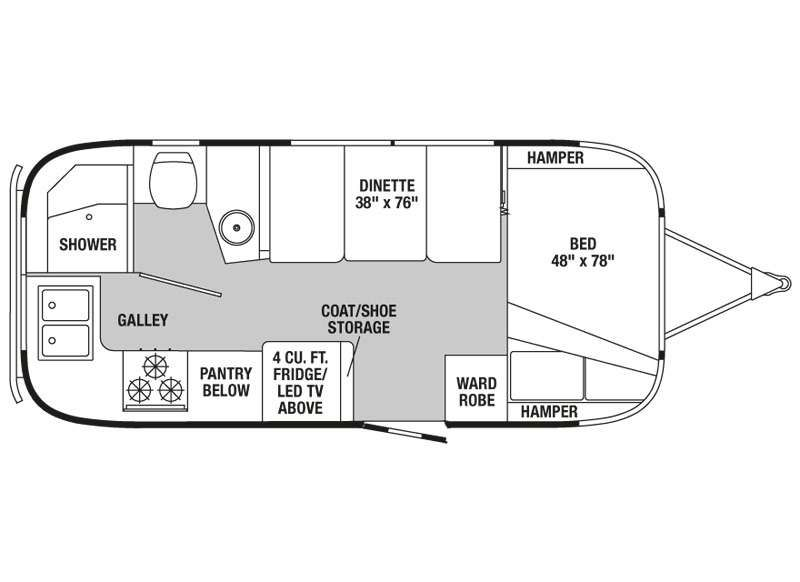 Renovated Airstream Floor Plans Google Search