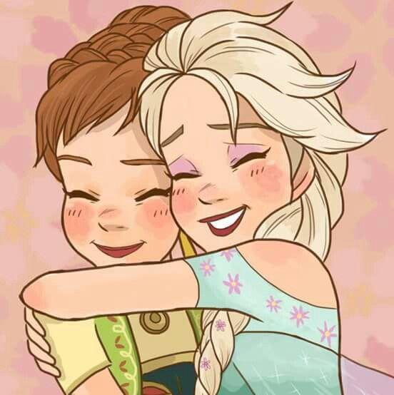 Frozen Hermanas Dibujo Disney Imagenes Dibujos De Hermanos