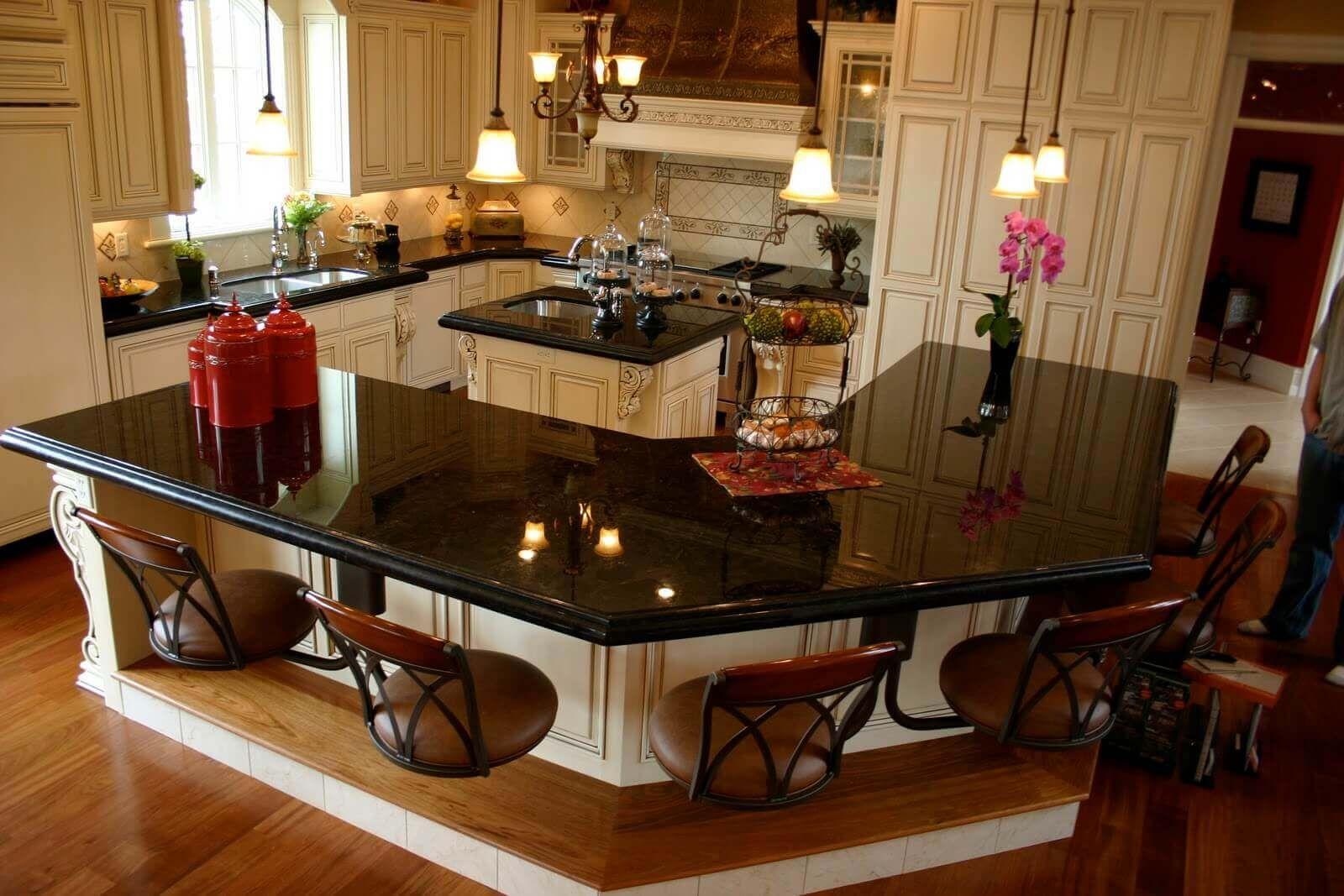 68 Deluxe Custom Kitchen Island Ideas Jaw Dropping Designs Custom Kitchen Island Tile Countertops Kitchen Kitchen Marble