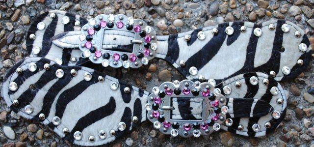 Zebra spur straps....O YA!