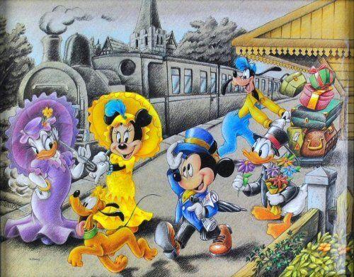 10x8 DISNEY Mickey Mouse & The Gang - Old School **RARE**VINTAGE**OOP by Innerwallz, http://www.amazon.com/dp/B0094JFFEO/ref=cm_sw_r_pi_dp_0cl5rb0786ZV2