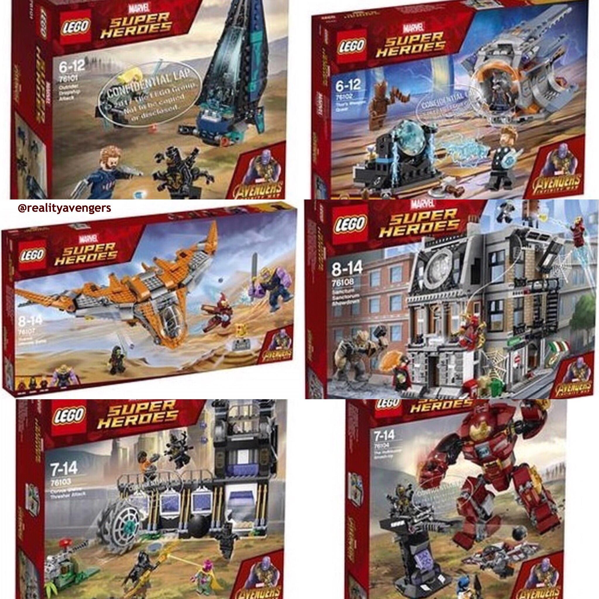 New Avengers Infinity War Lego Sets Photo Lego Marvel S Avengers Lego Sets Lego