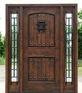 Rustic Exterior Doors Knotty Alder Western Style