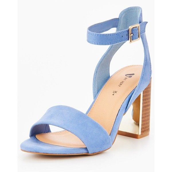 V By Very Bambi Wide Fit Heeled Sandal