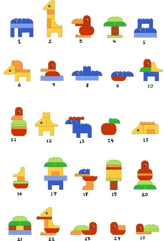 duplo animals lego en duplo bouwkaarten bouwen building instructions atelier montessori. Black Bedroom Furniture Sets. Home Design Ideas
