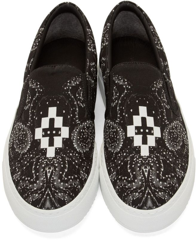 Marcelo Burlon County of Milan Black Uppsala Slip-On Sneakers