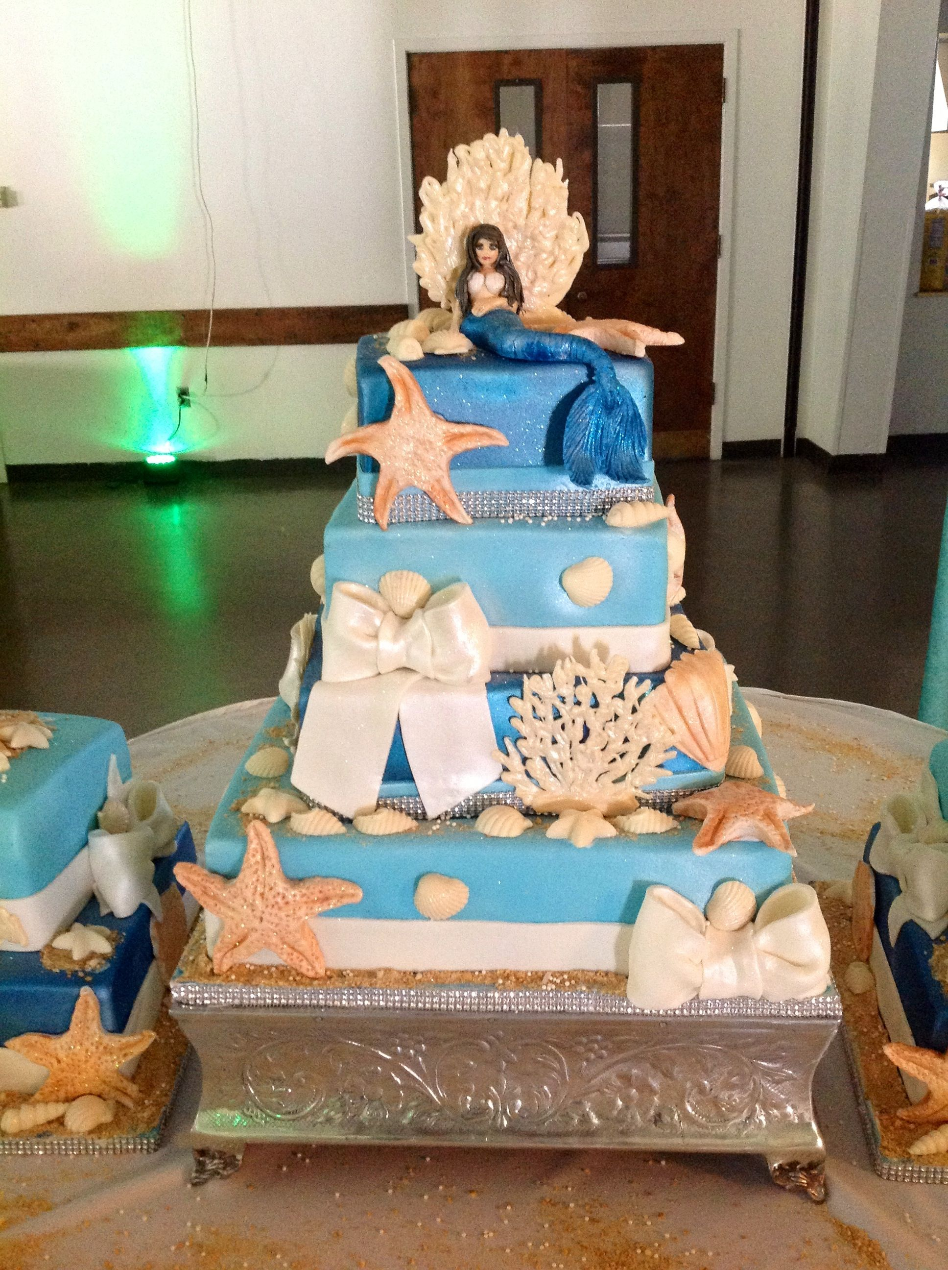 Under the sea wedding decoration ideas  Under the sea Sweet  theme cake  Quince  Pinterest  Sweet