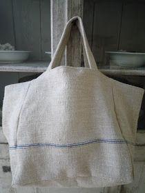ana-cuca: Bolso en tela de saco