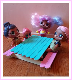 Photo of DIY L.O.L Doll Furniture out of Popsicle Sticks