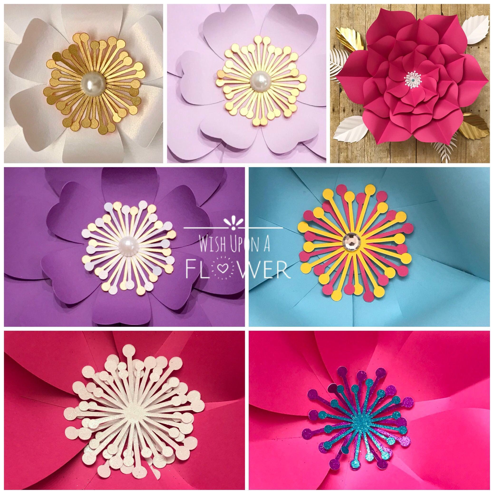 Paper Flower Centers  Flower Centers Glitter Flower Center