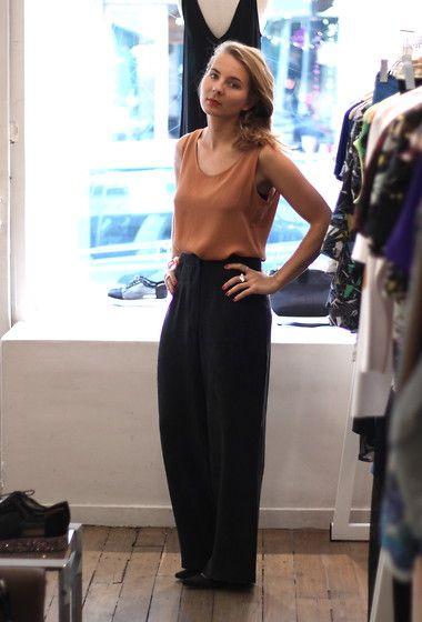 Mesdames Silk Wide Pants, 30 Cancan Silk Top, Minimarket Sparkling Heels