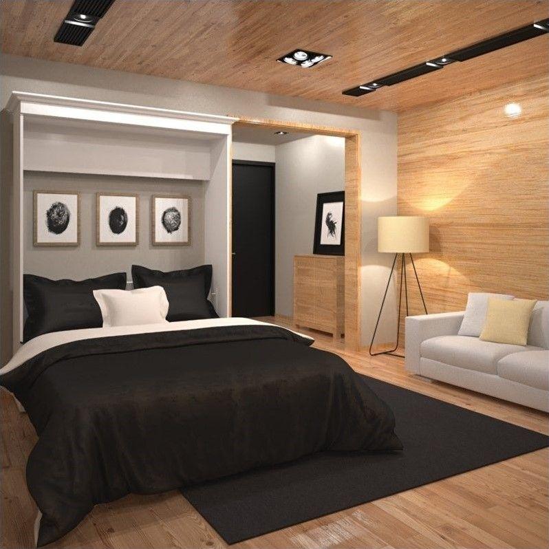 Best Bestar Versatile 70 Queen Wall Bed In White Bed Wall 400 x 300