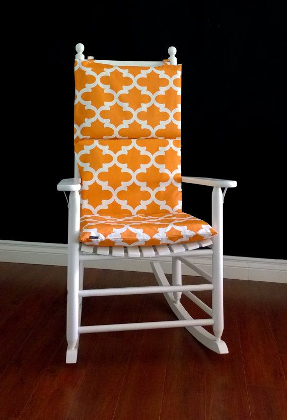 Orange Pattern Rocking Chair Cushion Pinterest Chair Cushion
