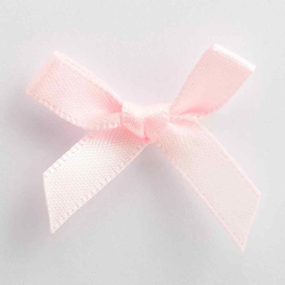 Pale Pink Satin Ribbon Bows | Make your Own Wedding Favours ...