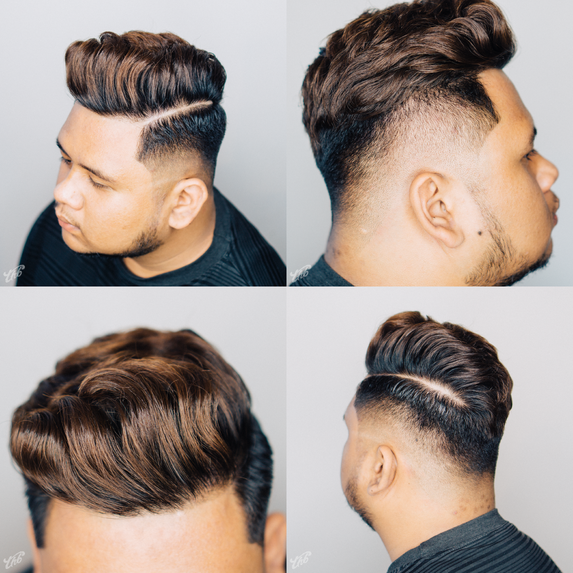 Haircut By Barber Mael Barbermael Thb Asian Pompadour Side Part Medium Fade Zero Fade Messy Top Hairstyle Hairstyle Pompadour Hairstyle Cool Hairstyles