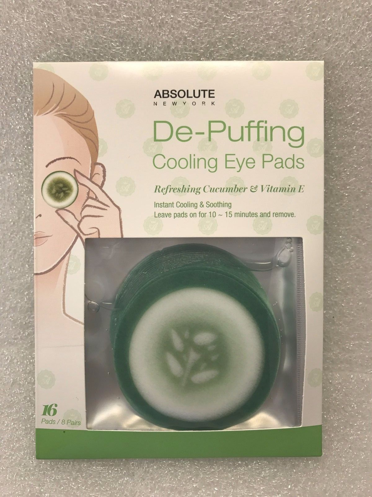 Absolute York De Puffing Cooling Eye Pads Refreshing Cucumber