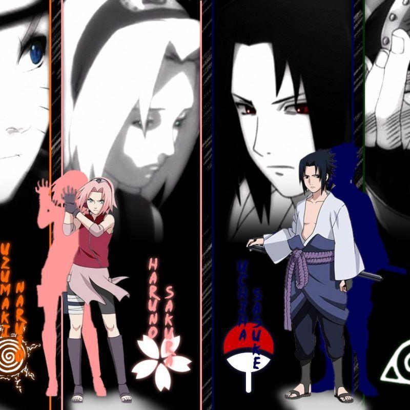 Naruto Shippuden Team 7 Wallpaper Hd Em 2020 Com Imagens