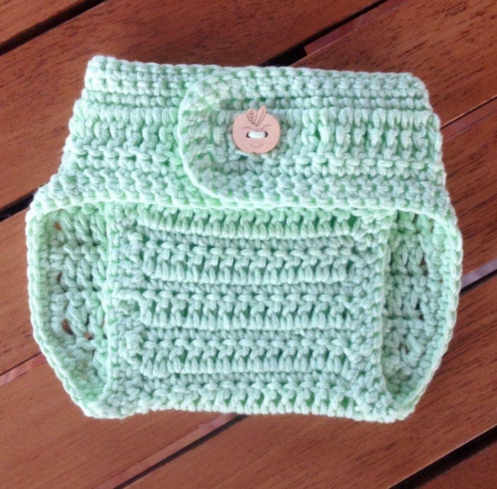 Pantalones para pañales en crochet - parte 1 con subtitulo de ...