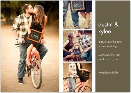 Que tal fazer um Cartão Postal como Save The Date usando as fotos de vocês?
