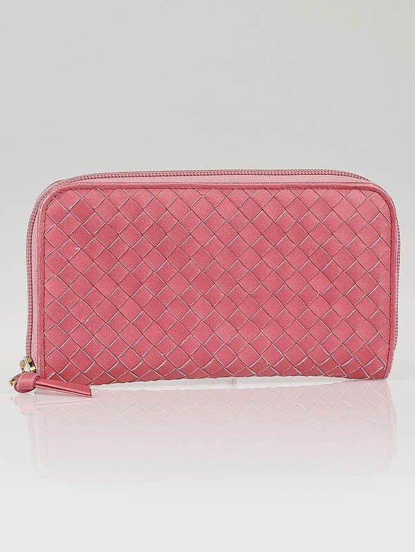 Bottega Veneta Quarzo Intrecciato Woven Nappa Leather Zip Around Wallet - Designers - 10013786