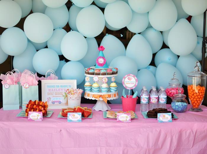 BEACH POOL PARTY IDEAS Balloon backdrop Birthdays and Themed