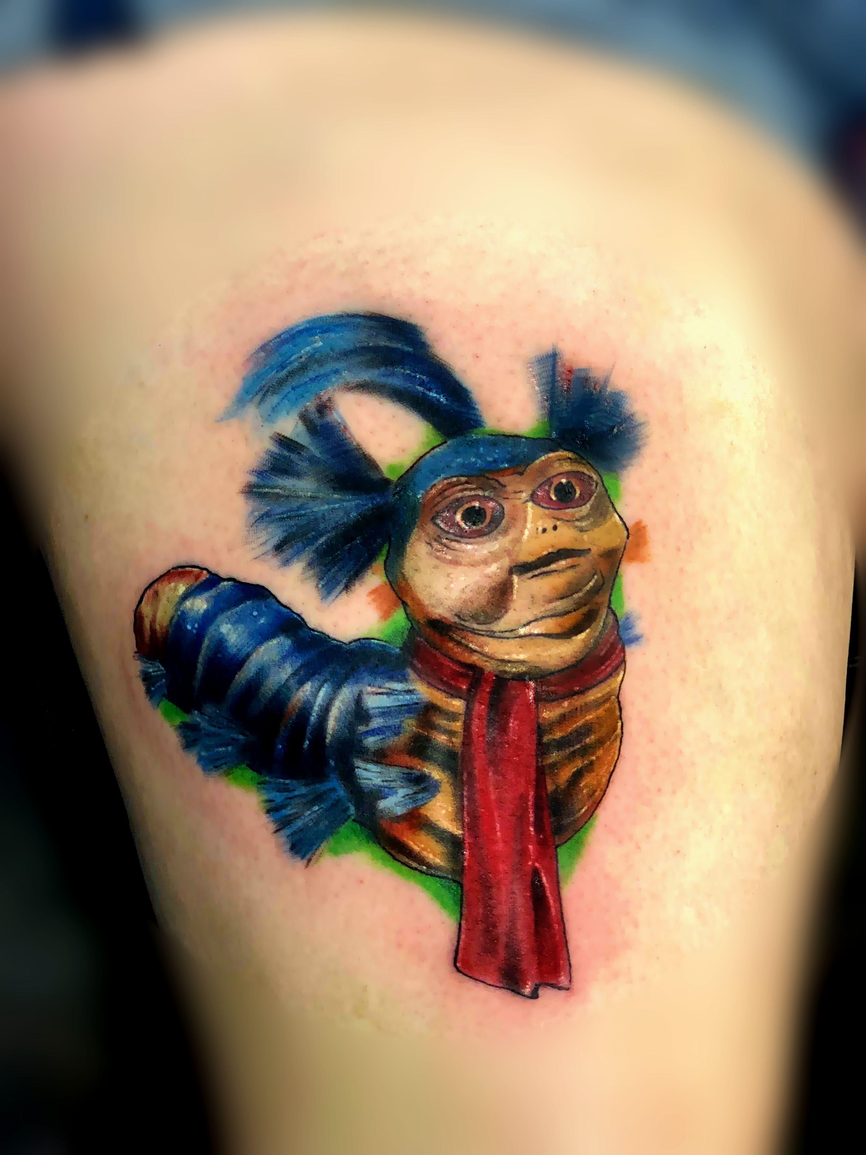 Cool worm from The Labyrinth I tattooed | Labyrinth tattoo