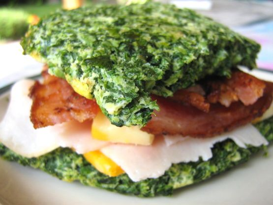 No Carb Spinach Bread Recipe Healthy Recipes Pinterest